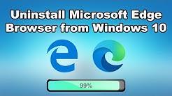 Uninstall Microsoft Edge Browser from Windows 10