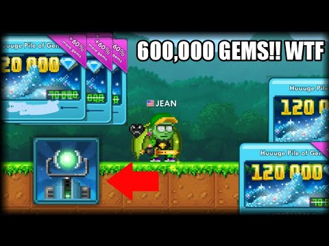 I got skemmed 600,000 gems!!! *4 gravity modifiers* - Pixel Worlds