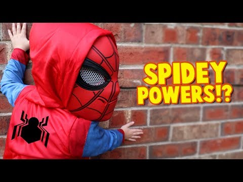 Thumbnail: Spider-Man Powers!? Spider-Man Homecoming Movie Gear Test for Kids Pt. 2 by KIDCITY
