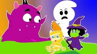 десять в постели   детский стишок   Scary Kids Song   Halloween Music   Ten In The Bed