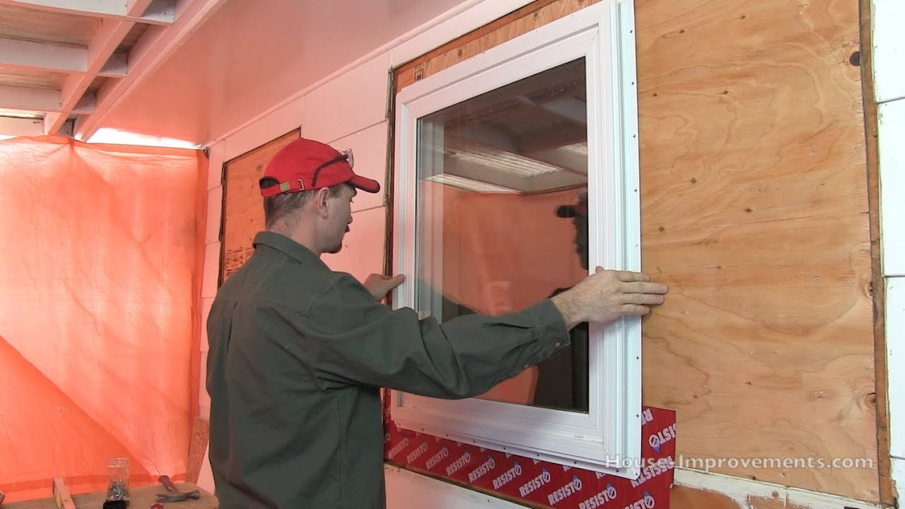 Vinyl Window Installation : Installation of vinyl windows without nailing fin hidden