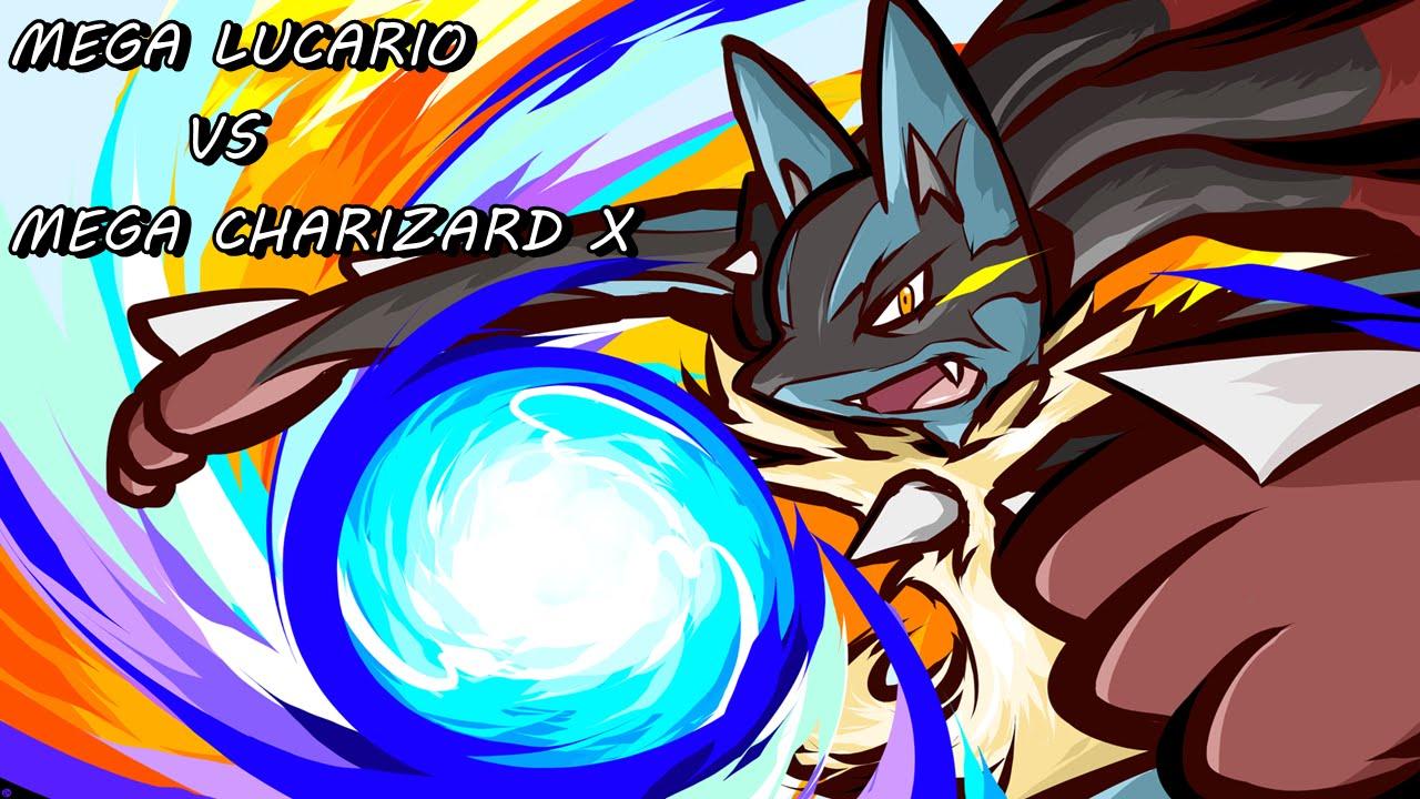 MEGA LUCARIO VS MEGA CHARIZARD X / POKEMON X & Y / Combate ...