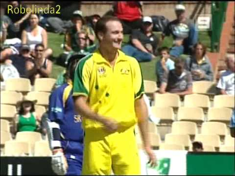 GREATEST CAUGHT AND BOWLED DISMISSAL - STUART CLARK 2006