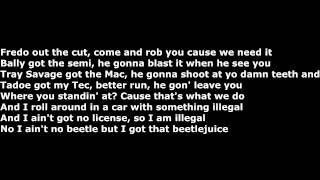 Chief keef (Ft. Fredo Santana) - Beetle Juice [Bobby Shmurda Diss] (Official Screen Lyrics)