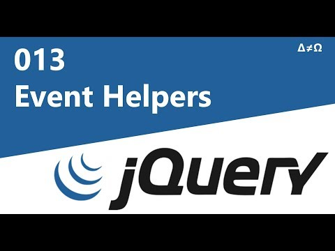 013 Event Helpers - jQuery Tutorial for Beginners thumbnail