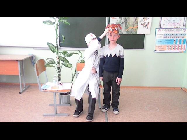 Изображение предпросмотра прочтения – «Первоклассники» представляют видеоролик кпроизведению «Айболит» К.И.Чуковского