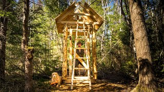 New Wilderness Off Grid Cabin, Milling Lumber, Building an Outhouse and a Ladder