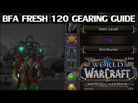 WoW Fresh 120 Gearing Guide for BfA