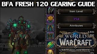 WoW Fresh 120 Gearing Guide for BfA