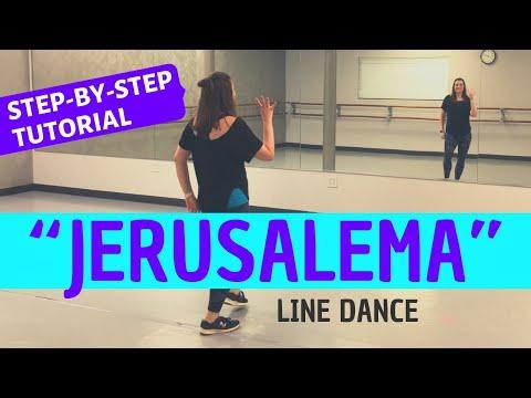 """JERUSALEMA"" DANCE   Master KG (BEGINNER LINE DANCE TUTORIAL) Back-view, Step-by-Step, and Easy!"