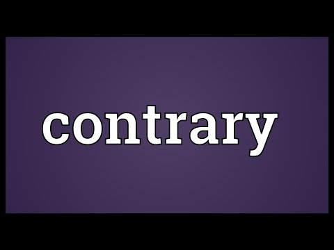 Contrary Meaning