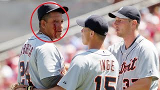"MLB ""Baseball To The Face""  Moments  ᴴᴰ"