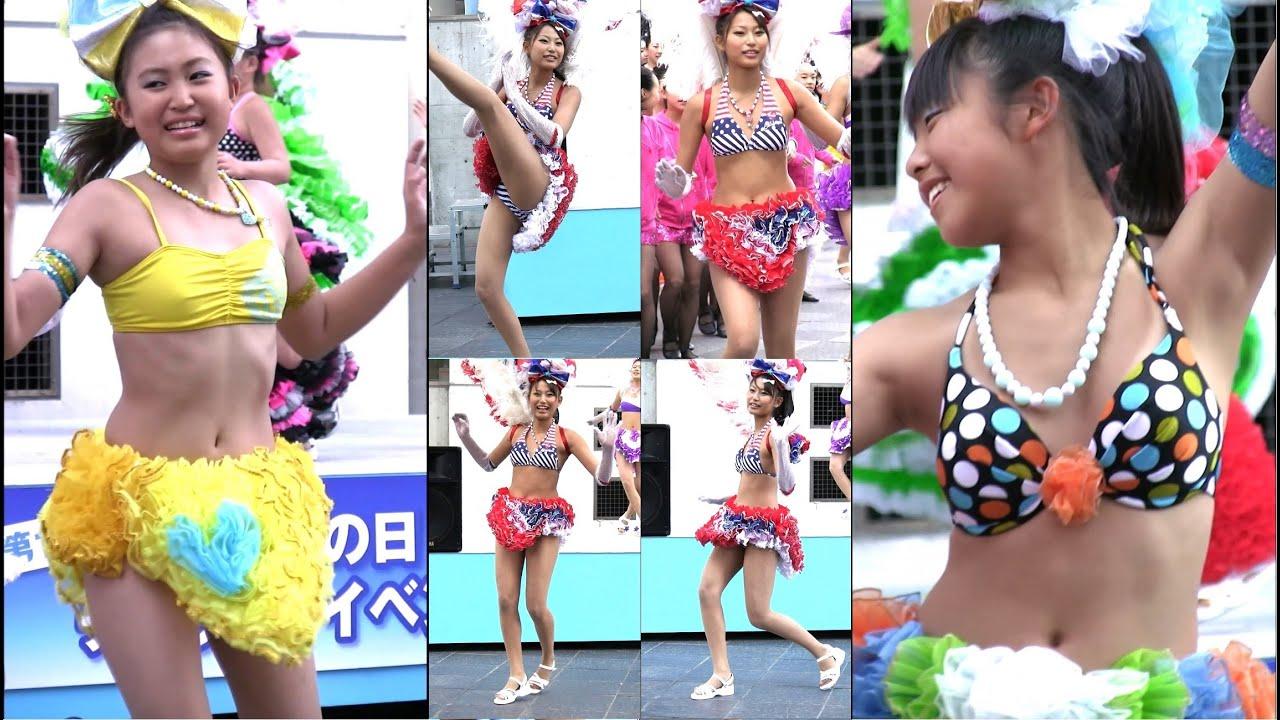 神戸サンバチーム アップ目で撮影 貴重な大阪でのサンバ 神戸まつりPRキャラバン隊 大阪・梅田スカイビル Samba in Japan