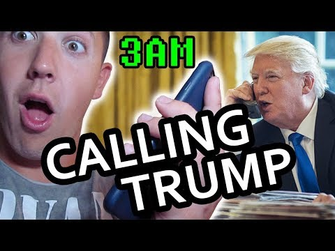 (HE ANSWERED!!?) CALLING DONALD TRUMP AT 3AM!!! **GONE WRONG** (HE YELLED AT ME!??)