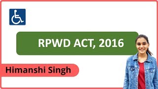 दिव्यांग कानून(RPWD) | The Rights of Persons with Disability Act 2016 for CTET,KVS,NVS,HTET,DSSSB