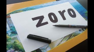 Very Easy! How To Turn Word Zoro Into Cartoon - Cartoon For Kids