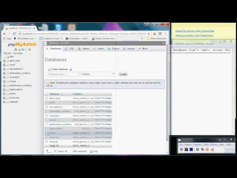 XAMPP - phpMyAdmin - MySQL - Error Dropping Database Can't Rmdir Err no 41 - Solution