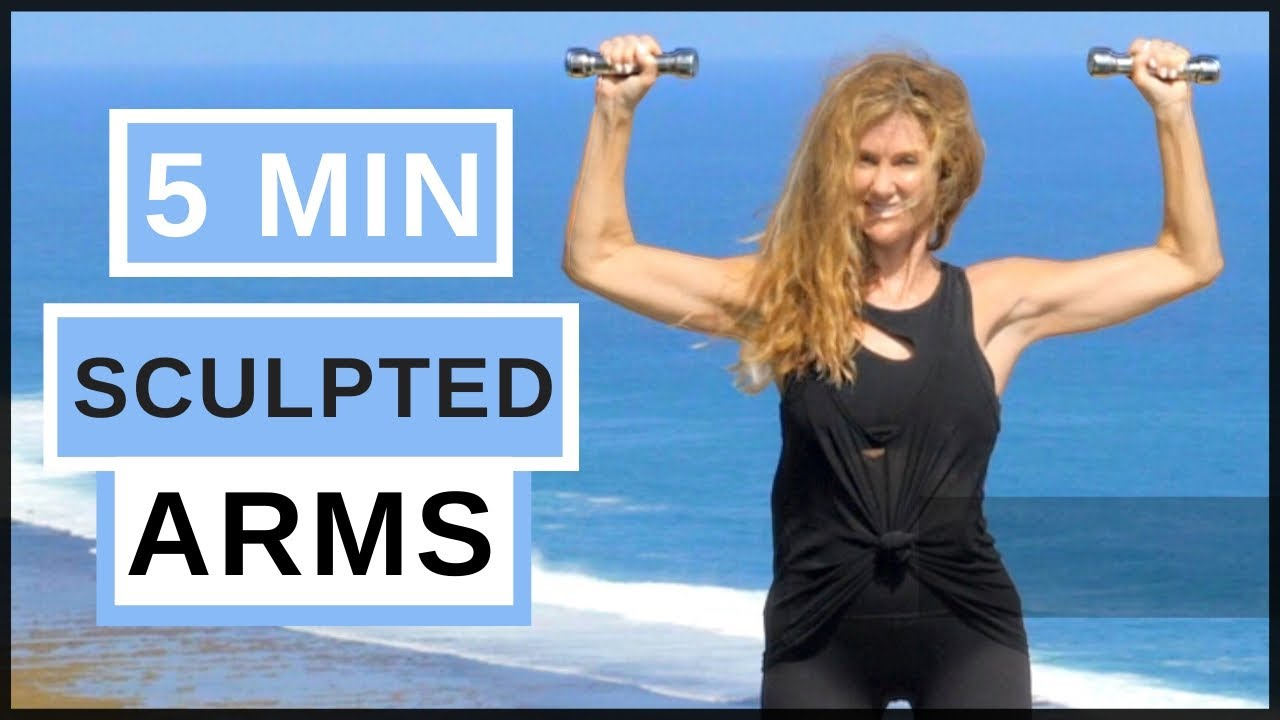 7 Minute Sculpted Arm Indoor Workout For Women! With Weights