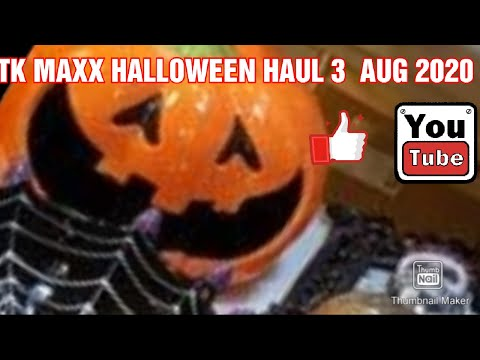 2020 Halloween At T.K. Maxx- 3 Witches And Happy Halloween With Two Pumpkins HALLOWEEN HAUL 3 AUGUST 2020 TK MAXX   YouTube