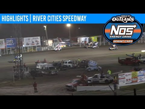 World of Outlaws NOS Energy Drink Sprint Cars River Cities Speedway, August 16th, 2019   HIGHLIGHTS