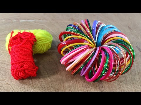 Amazing Craft Out Of Waste Bangles ! Old Bangles Craft Ideas ! Useful Diy Ideas !