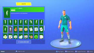 FORTNITE WORLD CUP SOCCER SKINS CUSTOMIZE FOOTBALL PLAYER SKIN! | Fortnite Battle Royale