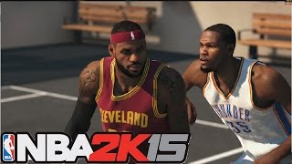 NBA 2K15 2015 PC blacktop gameplay | Lebron James Vs Kevin Durant 1 on 1 (Xbox 360/PS3/PC/PS4)