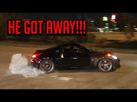DRIFTERS RUN FROM COPS LEAVING CRAZY CAR SHOW!!!