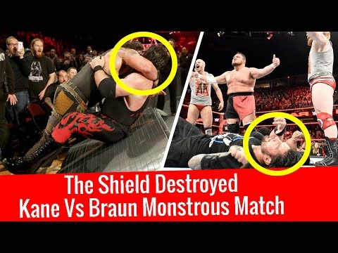 The Shield Destroyed | WWE Raw 11/12/2017 Highlights | Raw 11 December 2017 | Braun Strowman vs Kane thumbnail