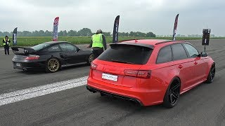 Audi RS6 Avant Milltek vs Porsche 996 Turbo