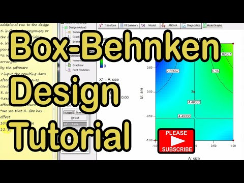 Box Behnken Design Review On Design Expert Software Youtube