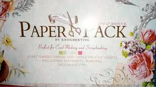 12*12 EnoGreeting paper pack from amazon