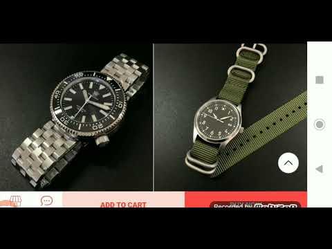 SEIKO TUNA And Some TUNA Homage Watches...  San Martin - Steeldive - Addies.
