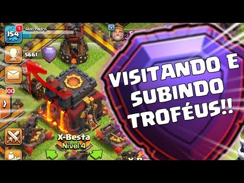 PUSH 5600+ E VISITANDO INSCRITOS AO VIVO | Clash Of Clans