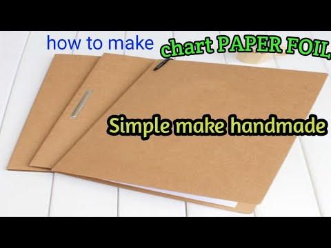 how to make a simple chart paper file handmade folder