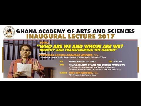Inaugural Lecture by Professor Akosua Adomako Ampofo