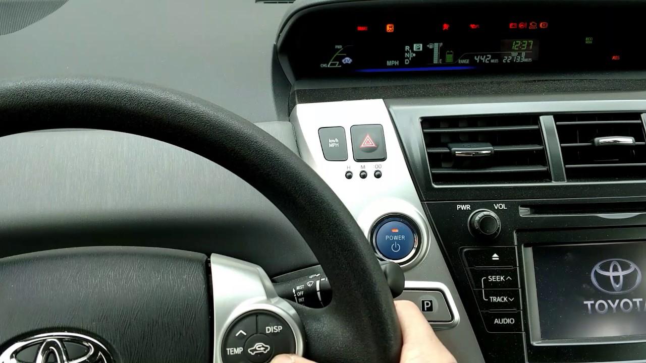 reset prius audio system