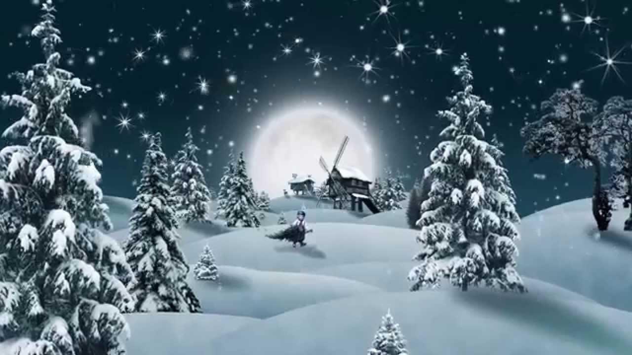 Зимняя, новогодняя заставка, футаж - YouTube
