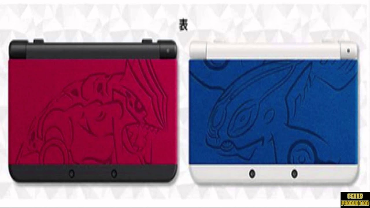 limited edition pokemon nintendo 3ds xl groudon and kyogre. Black Bedroom Furniture Sets. Home Design Ideas
