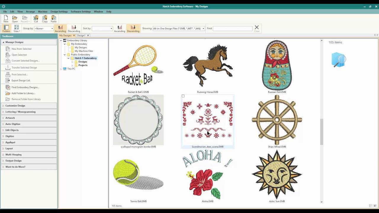 WILCOM HATCH Embroidery: Organize your Embroidery files!