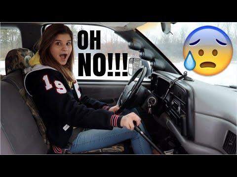 TEENAGE GIRL VS. 5 SPEED CUMMINS DUALLY!?!? *SO SCARED!*