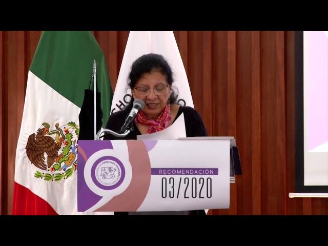 Discurso de Nashieli Ramírez, Presidenta de CDHCM, en Presentación de Recomendación 03/2020