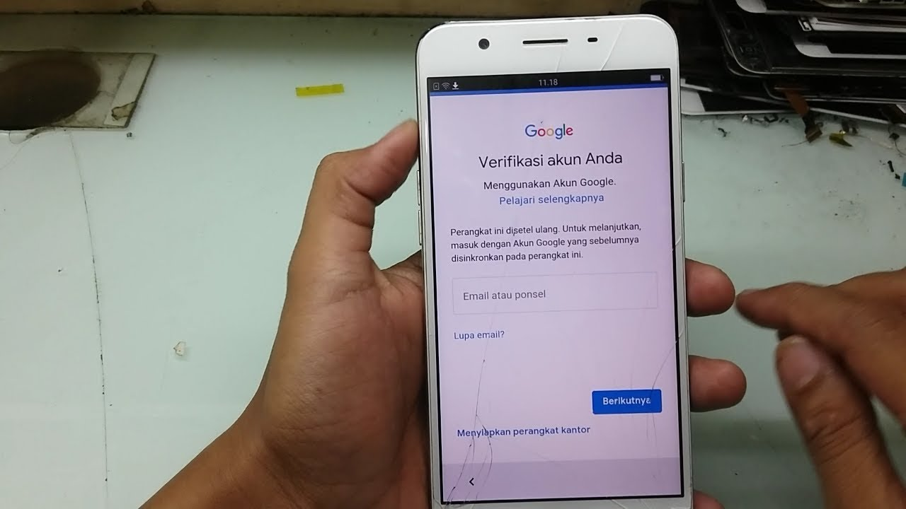 akun google oppo f1s bypass account