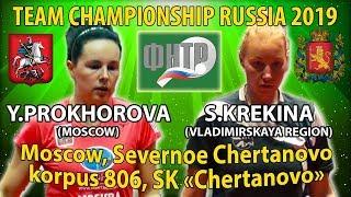 Финал Чемпионата России 2019 Крекина - Прохорова