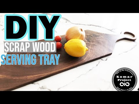 How To Make a Serving Tray Out of Scrap Wood // DIY Charcuterie Board