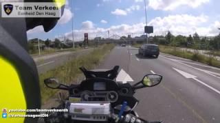 Ambulancebegeleiding / Police escort Parallelweg Den Haag naar Erasmus MC Rotterdam 09-09-2016