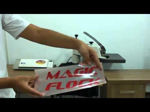 Magic Flock - Aplicação de Flock em Camiseta de Algodão - TheMagicTouch Brasil
