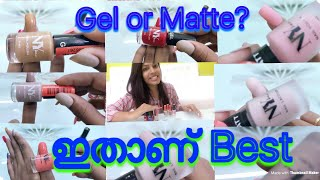 Gel or Matte?? NY Bae gel and matte nail paints  Review and nail swatches   Malayalee youtuber  
