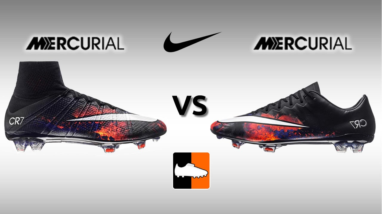 quality design b77d3 0c6dc Superfly IV vs. Vapor X - Nike Mercurial Speed Boot Comparison