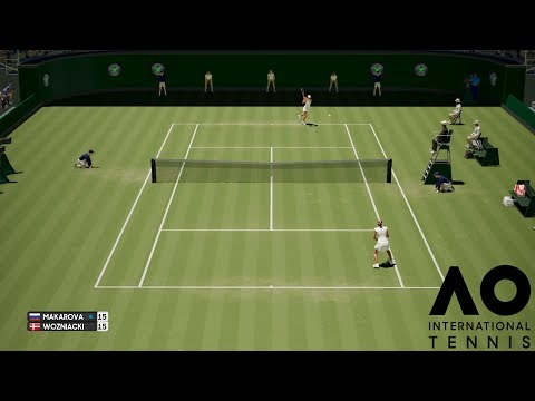 Ekaterina Makarova vs Caroline Wozniacki - AO International Tennis - Gameplay